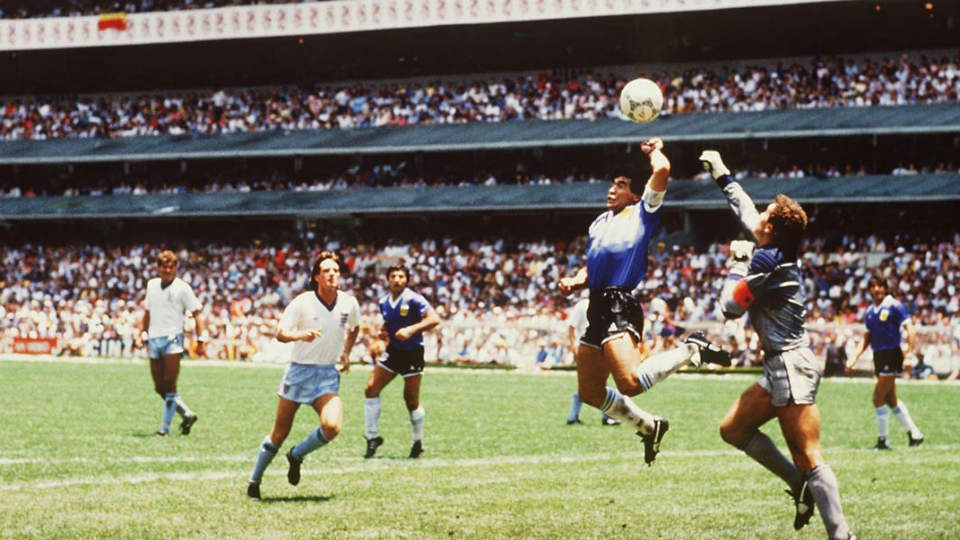 Gol Tangan Tuhan Diego Maradona